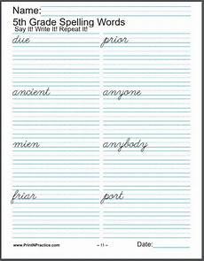 cursive handwriting worksheets 5th grade 22014 672 printable spelling worksheets easy spelling practice worksheets