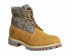 timberland icon roll top boots wheat harris tweed leather