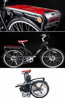 this small solex electric folding bikes bike with its 20 inch tires is easy to handle and has a