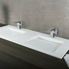 dax solid surface rectangle double bowl top bathroom