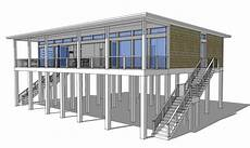 piling house plans modern piling loft style beach home plan 44073td 1st