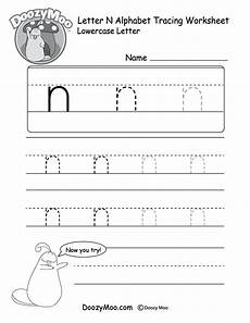 free letter n tracing worksheets 24168 lowercase letter quot n quot tracing worksheet doozy moo