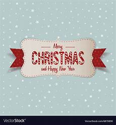 white merry christmas banner with ribbon vector image