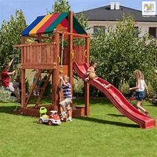 station de jeux pour enfants en bois s 233 ch 233 lasur 233 paradise