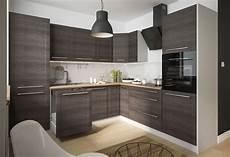 küchen modern l form k 252 chenblock l form 270x242cm grau fino schwarz k 252 che