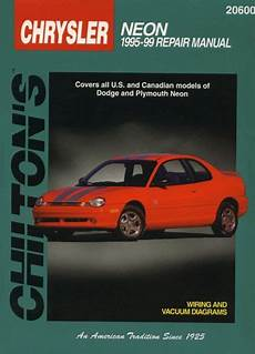 car repair manuals online pdf 1999 dodge neon auto manual dodge plymouth neon chilton manual 1995 1999 hay20600