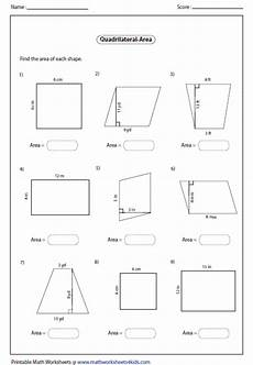 quadrilateral worksheets