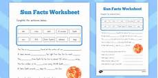 facts about the sun worksheet sun facts worksheet australia sun facts worksheet sheet