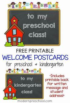 postcard template preschool printable student welcome postcards for preschool