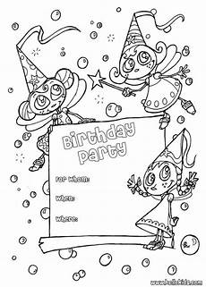 birthday invitation coloring pages
