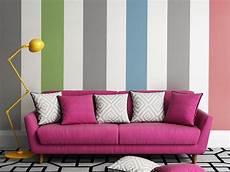 Color Blocking An Der Wand Und In Der Wohnung