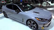 kia stinger 2017 2018 kia stinger exterior and interior walkaround debut at 2017 detroit auto show
