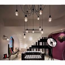 lustre de plafond 12 e27 retro vintage loft lustre plafond luminaires