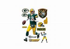 green bay packers wall stickers size aaron rodgers wall decal shop fathead 174 for