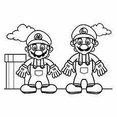 Malvorlagen Mario Classic Mario Ausmalbilder Ausmalbilder Mario Bros