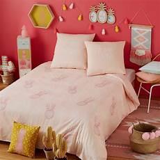parure de lit coton parure de lit en coton motifs ananas 140x200