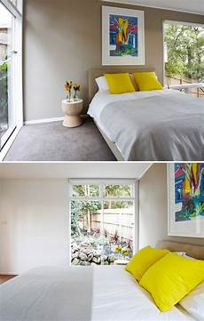 ignoring everything but the bed i love this the white grey bright yellow combination makes me
