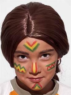 bemalung gesicht kinderschminken indianer nachher indianer