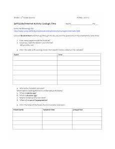 geologic time scale worksheet google search fun middle