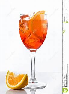 Aperol Spritz Cocktails - aperol spritz cocktail in glass isolated stock image