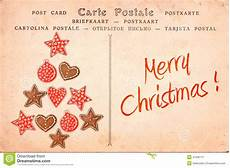 merry vintage postcard stock image image of