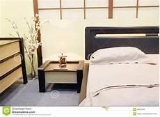 copriletto giapponese da letto nello stile giapponese immagine stock