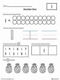 Number 1 Practice Worksheet Kindergarten Math Worksheets