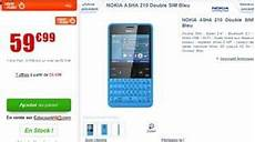 vente flash telephone portable sans abonnement moins de 60 euros le nokia asha 210 sim vente flash