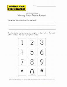 writing your phone number worksheet busy bags and activities for little preschoolers