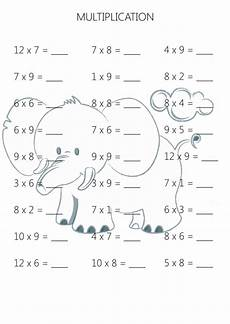 easy multiplication practice sheet 5 kidspressmagazine com