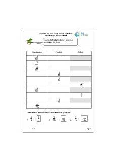 fraction worksheets year 5 equivalent 4175 fraction and decimal worksheets for year 5 age 9 10