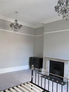 pavilion gray paint color examle of the panel moulding placed high pavillion grey by farrow ball grey walls