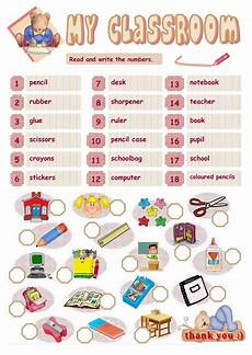 worksheets classroom objects 18220 my classroom interactive worksheet