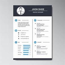 graphic designer resume template free vector