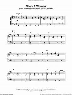 beatles she s a woman sheet music for piano solo pdf