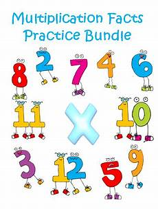 multiplication facts practice bundle multiplication