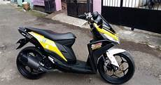 Modifikasi Mio Z by Modifikasi Motor Yamaha Mio M3 125 Gaya Nmax Modifikasi