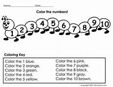 worksheet color the numbers prek primary teaching resources