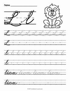 free worksheets on cursive handwriting 21801 free printable cursive l worksheet cursive writing worksheets cursive practice cursive writing