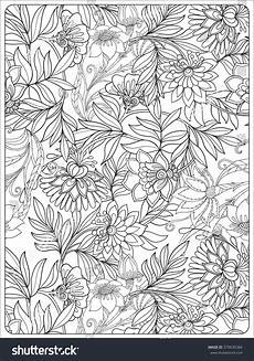 decorative vintage flowers pattern good coloring 스톡 벡터 379630384 shutterstock