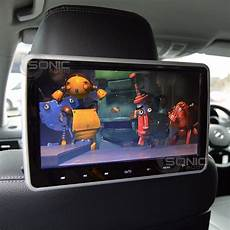 dvd player auto clip on and play car hd headrest dvd player screen