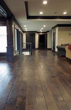 love the dark wood living room makeover hardwood