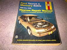 motor auto repair manual 1993 mercury sable user handbook purchase haynes repair manual for ford taurus and mercury sable 1986 1995 motorcycle in
