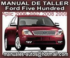 online auto repair manual 2007 ford five hundred seat position control five hundred 2007 2008 manual de mecanica y taller ford