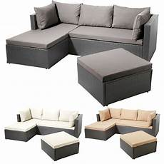 Garten Lounge Angebot - poly rattan garnitur alu gestell gartenlounge lounge sofa