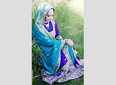 Pakistani Muslim Bride in Blue and Turquoise Wedding