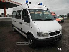 1999 Opel Movano 2 8 Dti L2h2 Car Photo And Specs