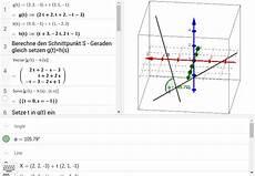 schnittwinkel zweier geraden berechnen schnittwinkel