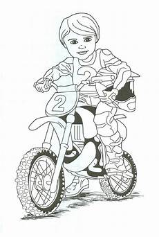 dirt bike rider coloring page fletcher s motocross