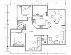 dwg house plans 2 bhk house plan dwg cadbull